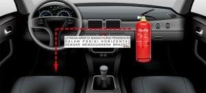 Cara pasang apar di mobil yang benar